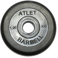 Диск обрезиненный, чёрного цвета, 26 мм, Atlet MB-AtletB26-1,25, фото 1